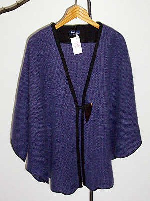 Cape in Mohair/Wolle